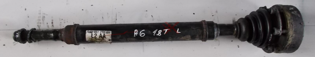 AUDI A6  1.8T   LEFT DRIVESHAFT    4B0407272AA