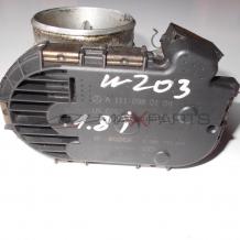 Дроселова клапа за MERCEDES BENZ C-CLASS W209 200 Kompressor THROTTLE BODY A1110980109 0280750045