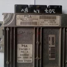 Компютър за PEUGEOT 307 1.4 8 V PETROL ECU 9646243680  9646185180